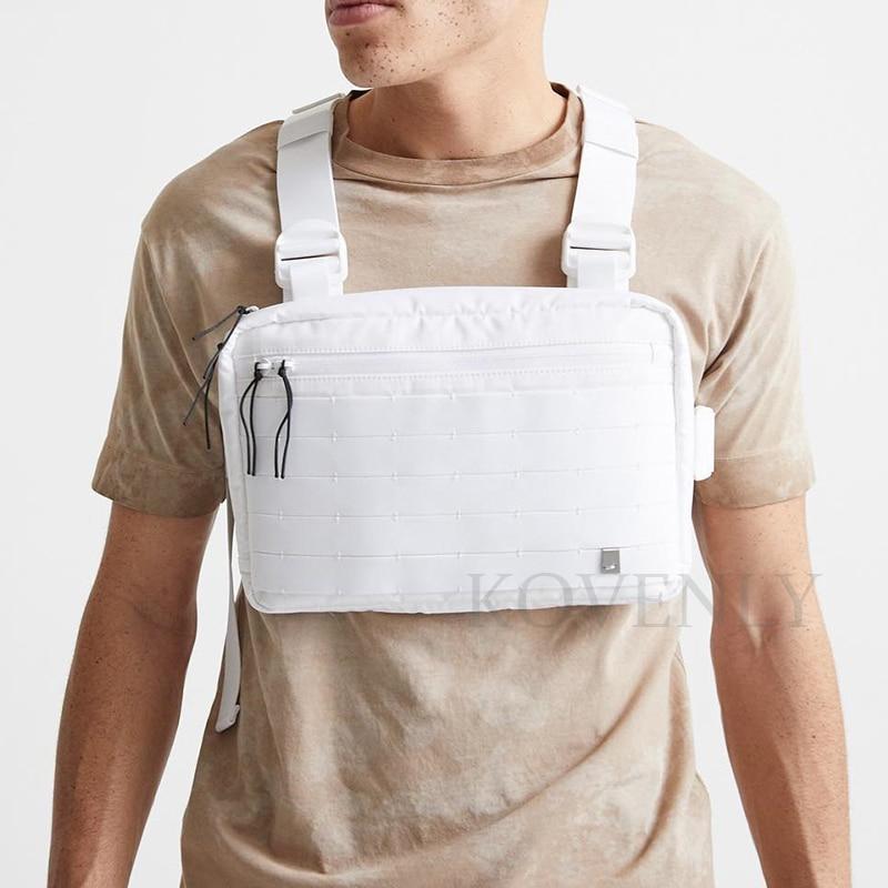 New Streetwear Chest Bag For Men Hip-Hop Vest Chest Rig Bags Fashion Tactical Strap Bag Male Square Vest Pack Kanye