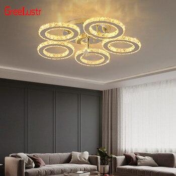 Modern Lustre Chrome Crystal Chandeliers Lighting 30W Led Hanging Ceiling Lamp For Kitchen  Plafon Lamparas De Techo Luminaire 1
