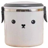 Nette Cartoon Edelstahl Lunch Box Bento für Kinder Kleinkinder Vakuum Isolierte Lebensmittel Container Glas Lunchbox Suppe Becher Lunchboxen Heim und Garten -