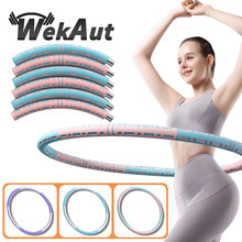 6/7/8 Parts Detachable Stainless Steel Sport Hoop Fitness Training Gym At Home Massage Waist Ring Loss Weight Exercise Circle