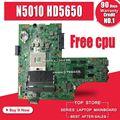 Бесплатный процессор 09909-1 для DELL inspiron N5010 CN-0VX53T CN-052F31 48.4HH01.011 оригинальная материнская плата N5010 Mianboard HM57 HD5650 GPU