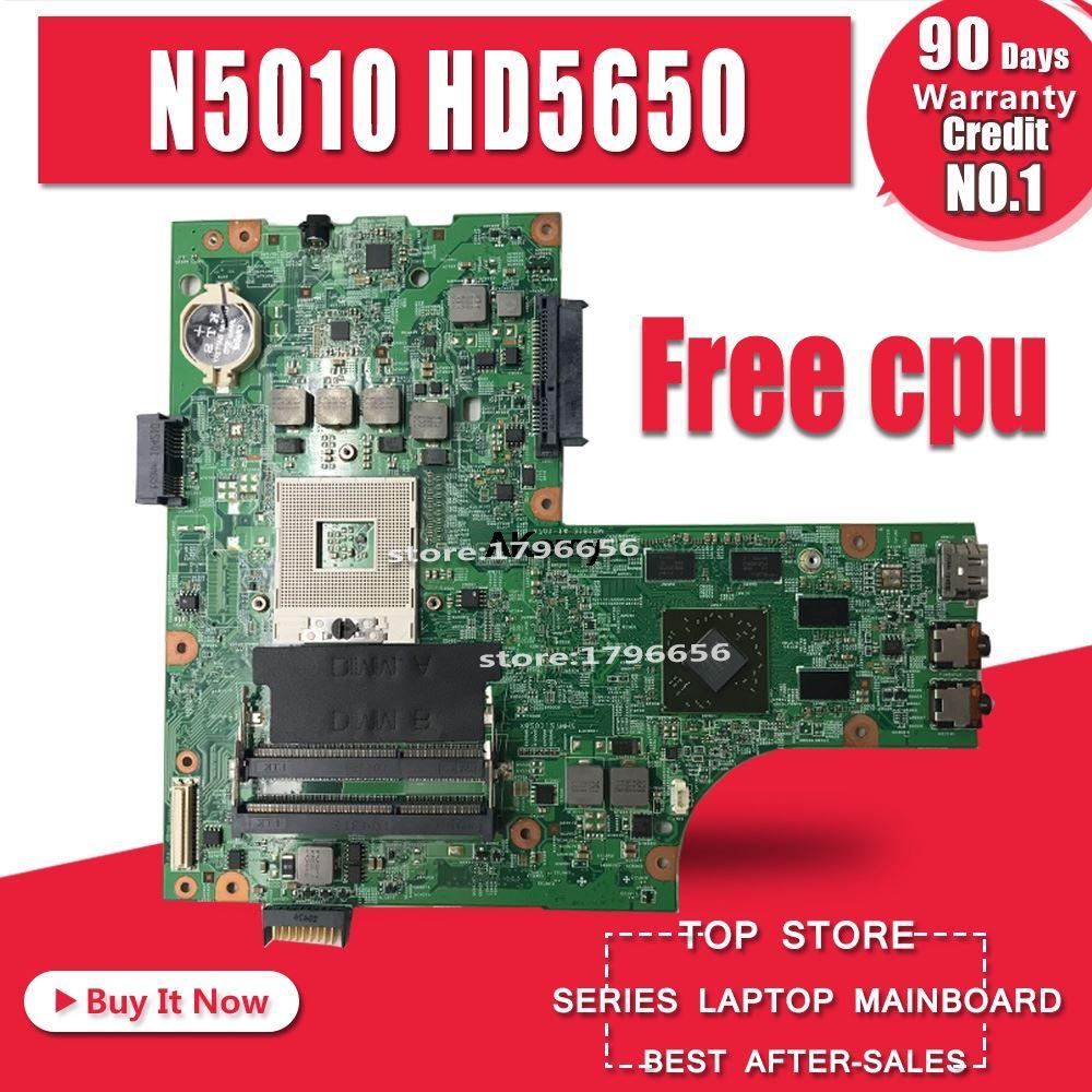 Free Cpu 09909-1 For DELL Inspiron N5010 CN-0VX53T CN-052F31 48.4HH01.011 Original Motherboard Mianboard HM57 HD5650 GPU