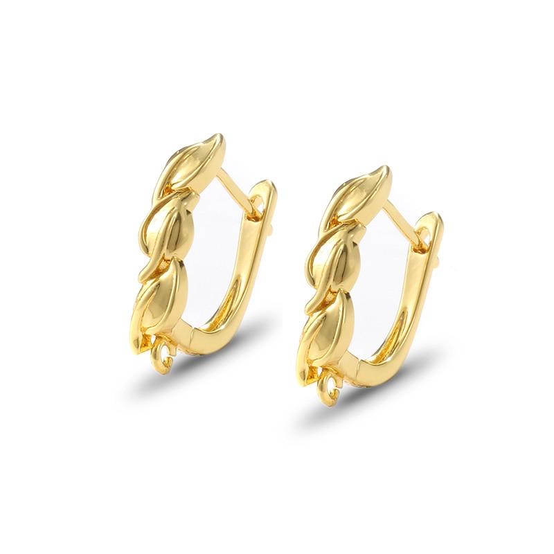 1pair small leaves DIY earring earrings for jewelry making handmade earring accessories material ear hook