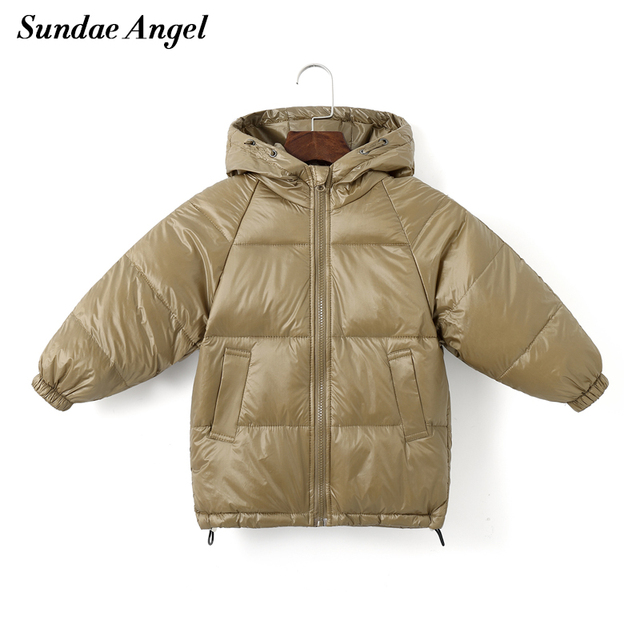 Sundae Angel Children Coat Winter Girls Down Cotton Padded Kids Hooded Solid Down Jacket For Boy Warm Child Outerwear Clothes 1