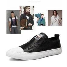 Zapatos de cuero suave de costura a mano de marca Vintage, botines casuales de negocios, zapatos de cuero genuino, zapatos de hombre de alta calidad