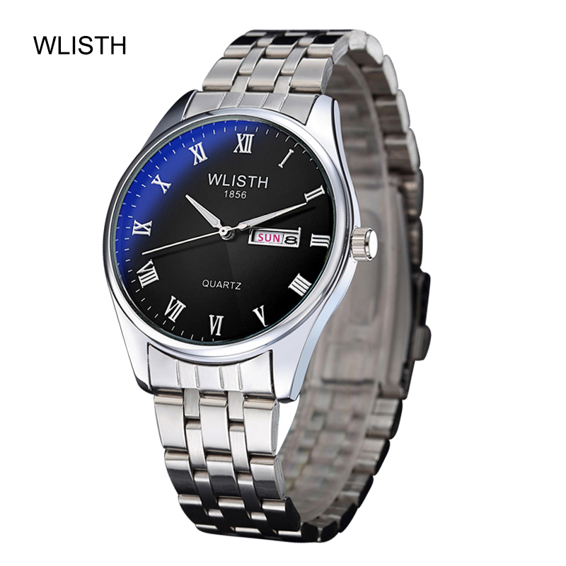 WLISTH Couple Watch Business Quartz Luminous Steel Belt Men Watch Waterproof Belt Female Watch Women Watch