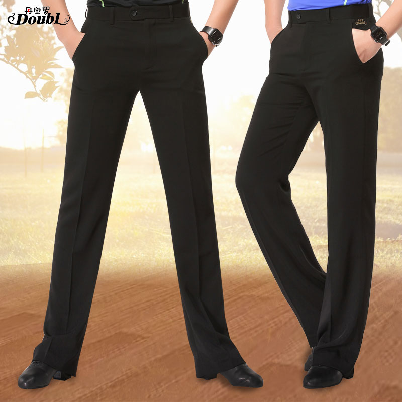 Tapered Legs Men's Dance Pants New Adult Pants Pocket Pants Black Square Dance Practice Ballroom Dance Pants Men's