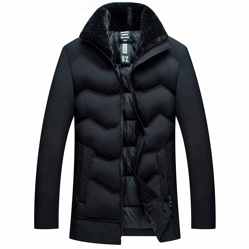 New Men's Winter Cotton Jacket High Quality Thick Warm Casual Windproof Daddy Down Jacket Long Coat Parka Large Size 5XL