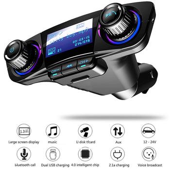 Uniwersalny inteligentny telefon 1pc podwójny USB szybki ładowanie Audio odtwarzacz MP3 bezprzewodowy bluetooth 4 0 samochodowy nadajnik FM Mayitr tanie i dobre opinie CN (pochodzenie) Car FM Transmitter Kit others High quality materials 24 v 130g 0 15 x 0 12 x 0 04 (M)