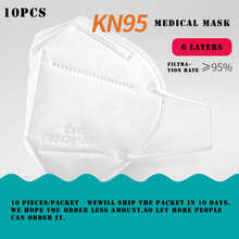 10pcs/packet KN95 CE Certification Face Mask N95 Mouth Mask Anti Smog Strong Protective 95% Filtration