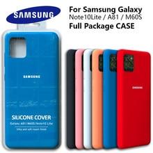 Galaxy Note10Lite Fall Original Samsung A81 Seidige Silikon Abdeckung Hohe Qualität Soft-Touch Zurück Schutzhülle Galaxy M60s Note10 LITE