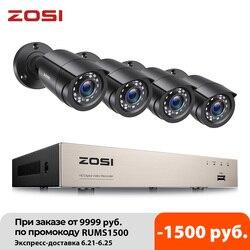 ZOSI CCTV System H.265 + 8CH DVR mit 4/8 1080p Outdoor Sicherheit Kamera DVR Kit Tag/Nacht Hause video Überwachung System