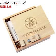 JASTER Free shipping USB 3.0 Wooden Album + Maple USB Flash Drive 4GB 8GB 16GB 32GB 64GB 128GB Pendrive Memory Stick Free Logo