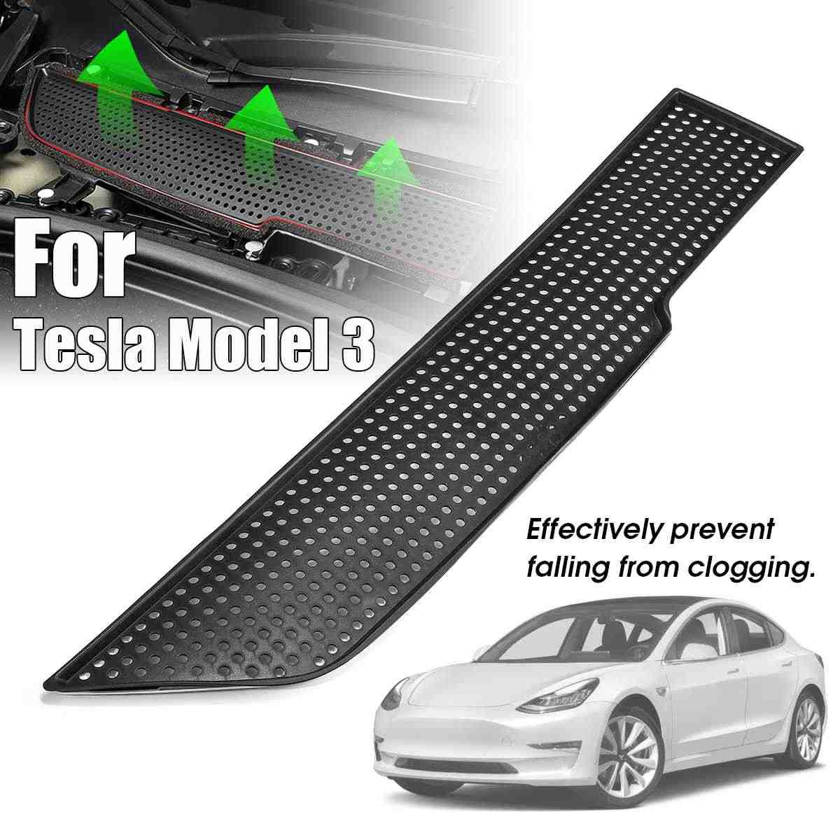 NEW Air Conditioning Air Inlet Protection Cover Dustproof Anti-dirty Purification Air Filter For Tesla Model 3 2017~2019