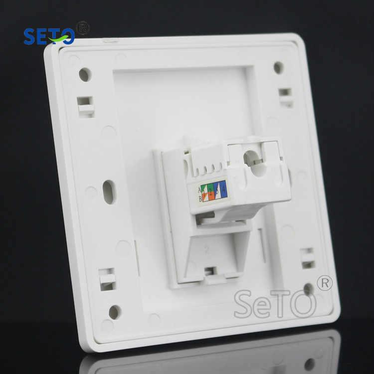 SeTo 86 typ RJ45 Cat6 Gigabit sieci Ethernet LAN Panel wylot ściany gniazdo płyty czołowej Keystone