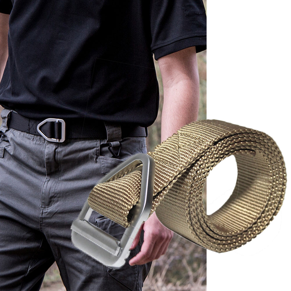 Outdoor Sports Tactical Belt Special Forces Training Nylon Belt With Alloy Buckle for Men