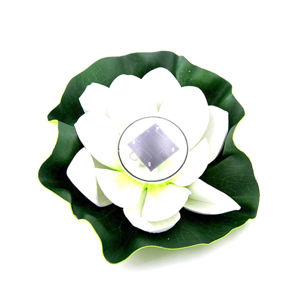 Environmental Protection Waterproof Closed Ring Waterproof Pond Water Drift Lamp Solar Lotus Lamp Wish Lotus Leaf Lamp