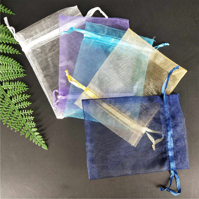 50pcs Small Organza Bag Wedding Decoration party decoration  Packaging Bags Gift Bag Pouches dragees bag wedding box for sweet 5