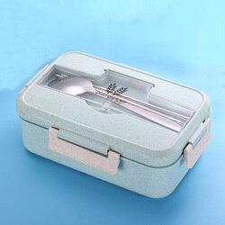 1000ml Microondas Lunch Box Louça de Palha de Trigo Caixa Recipiente De Armazenamento De Alimentos Crianças Crianças Escola Escritório Recipiente Portátil