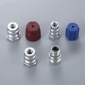Image 4 - R12 R22 to R134a Retrofit Parts Kit Conversion Straight Adapters w/ Valve Core Service Port Caps Valve Fitting FIT ANY CAR