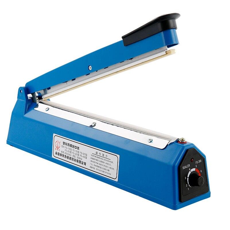 200mm/300mm Impulse Sealer Heat Sealing Machine Kitchen Food Sealer Vacuum Bag Sealer Plastic Bag Packing Tools 220V 50/60HZ