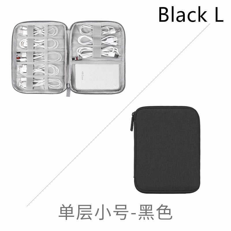 Gris numérique sac de rangement USB données câble organisateur écouteur fil sac stylo batterie externe Kit de voyage étui pochette électronique accessoires