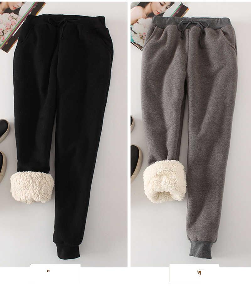 Inverno Cashmere Harem Dei Pantaloni Caldi Delle Donne 2019 pantaloni Causali Donne Caldo di Spessore di Agnello Cashmere Pantaloni Delle Donne dei Pantaloni Sciolti