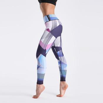 Qickitout 12% Spandex High Waist Digital Printed Fitness Leggings Push Up Sport GYM Leggings Women 13