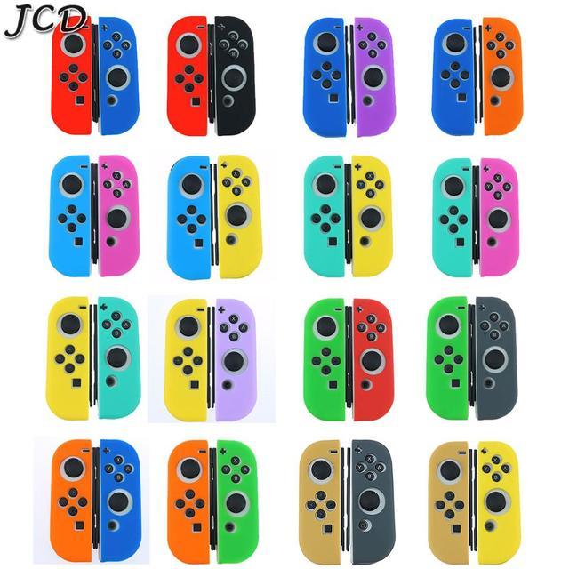 JCD 1 ensemble housse de coque peau en caoutchouc Silicone pour interrupteur Joy Con contrôleur pour Nintendo Switch NX NS poignée Joycon