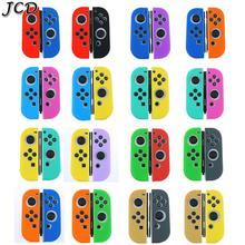 JCD 1 zestaw gumy silikonowej skórzane etui pokrywa dla przełącznik do Nintendo Joy Con kontroler dla Nintendo przełącznik NX NS Joycon Grip