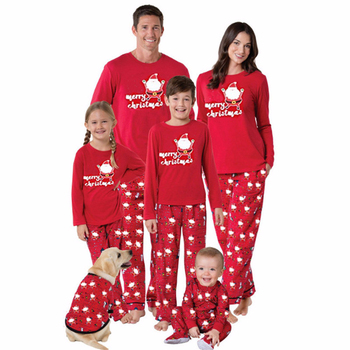 Family Matching Christmas Pajamas Set Warm Adult Kids Girls Boy Mommy Print Sleepwear Nightwear Mother Daughter Clothes Outfit