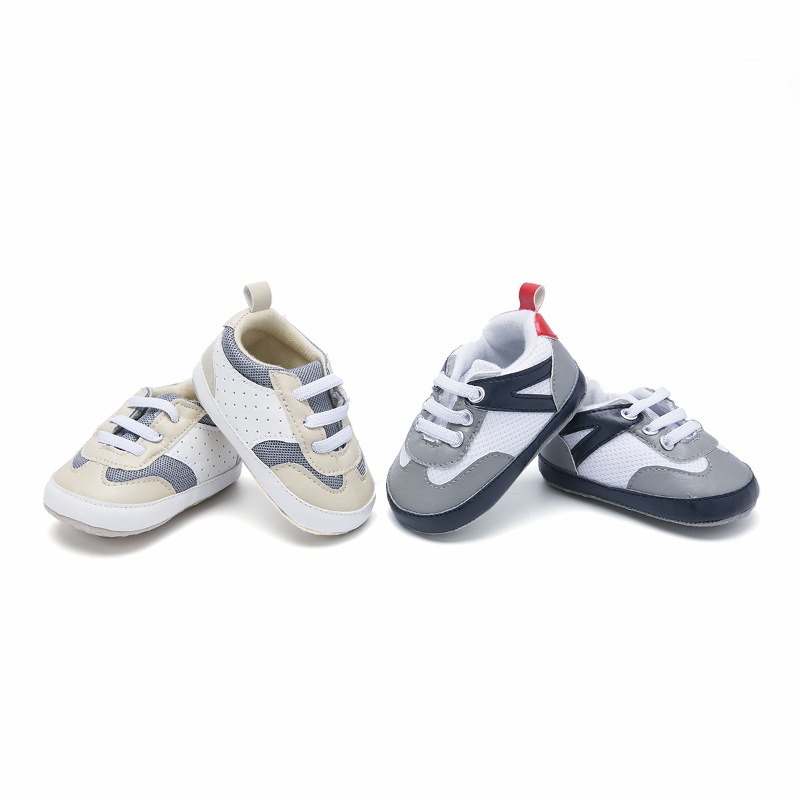 Cute New Baby Boys Breathable Striped Printnti-Slip Shoes Sneakers Soft Soled Walking Shoes First Walkers P