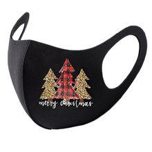 Máscara de rosto adulto reusável colorido tecido festa de natal boca boné moda máscara lavável neutro mascarar bocas laváveis