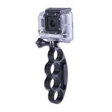 Handheld Knuckle Finger Grip Mount Selfie Accessory for GoPro Hero 8 7 6 5 4 3 Xiaomi Yi 4K Sjcam Eken H9 Action Cam portable hand grip waterproof selfie stick pole tripod for gopro hero 7 6 5 4 sjcam eken yi 4k dji osmo action camera accessory