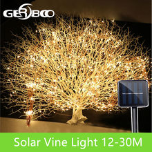 LED Outdoor Solar Lamp String Lights 100/200 LEDs Fairy Holiday Christmas Party Garland Solar Garden Waterproof