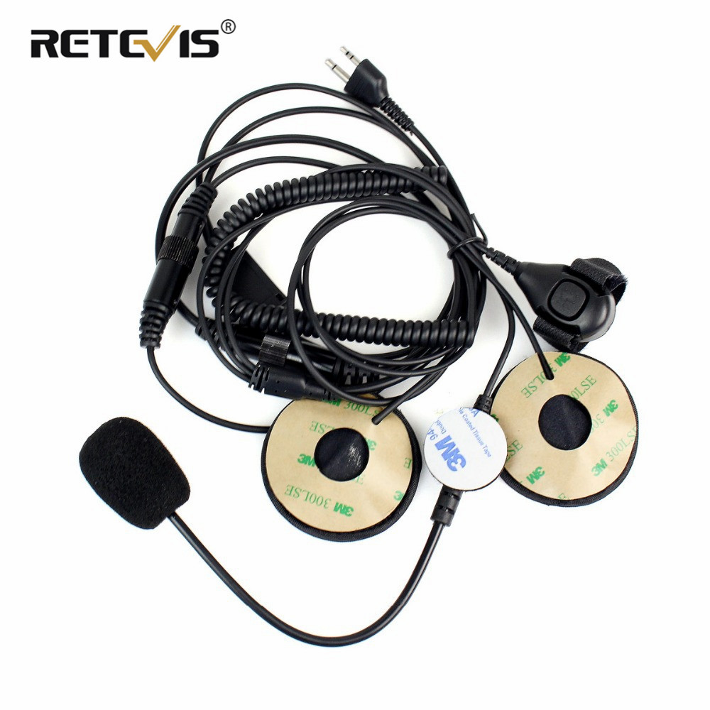 Professional Motorcycle Helmet Headset Microphone Earpiece For Midland Walkie Talkie With Finger PTT C2150A