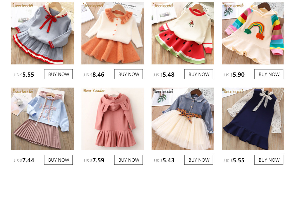 H4d6f3a5c4c784842aea6f79d378b7e52A Bear Leader Girls Dress 2019 Winter Geometric Pattern Dress Long Sleeve Girls Clothes Top Coat+ Tutu Dress Sweater Knitwear 2pcs