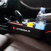 Caja de almacenamiento de hendidura para asiento de coche, organizador de huecos de taza, accesorios de soporte de teléfono para Citroen C1, C2, C3, C4, C5, C6, C8, C4L, DS3, DS5LS, C-ELYSEE