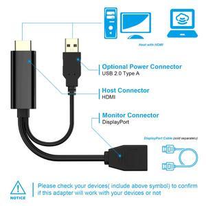 Image 3 - Extensión HDMI macho 3840x2160 UHD 4K a DisplayPort adaptador hembra 15cm Cable con alimentación USB 2,0 para HDMI PC DP Dosplay