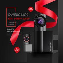 SAMEUO U800 caméra de tableau de bord WiFi GPS caméra de tableau de bord avant et arrière Mini Hidde full hd 1080P Vision nocturne superbe DVR 360 Rotation pour les voitures