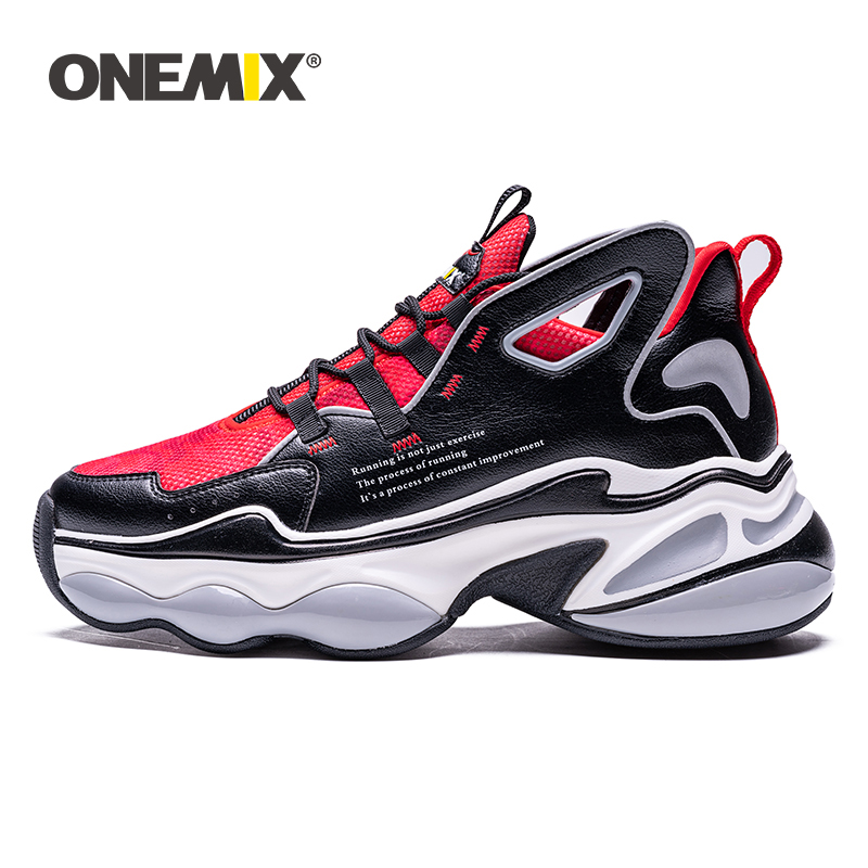 ONEMIX Running Shoes For Men Hight Increase 7 Cm Air Cushion Fashion Original Wing Reflective Sport Shoes Walking Sneakers Women