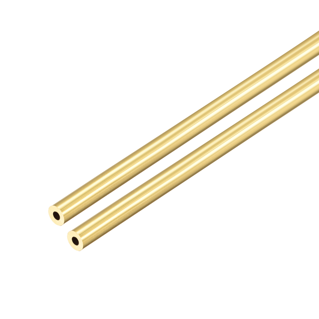 Uxcell Brass Round Tube 300mm Length 1mm Wall Thickness Seamless Straight Pipe Tubing 3.5mm OD 2Pcs