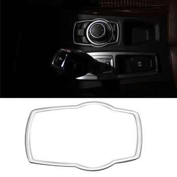 2020 New Stainless Steel Interior Refit Multimedia Buttons Cover Car Accessories For BMW X1 X3 X5 X6 F20 F01 F30 F15 F34 F31 image