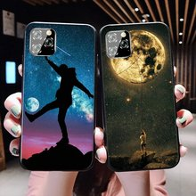 Star moon space Mobile Phone Case TPU for iPhone SE 2020 11 Pro X XR XS Max iPhone 7 8 6 6s Plus SE 5 5s Cover(China)