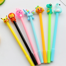 10/20/50 pcs/set Cute Kawaii Cartoon animal fruit Gel Pen kids Writing Signature office stationery school supplies gifts prize