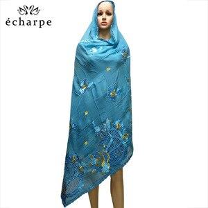 Image 3 - New African Scarf Muslim Hijab Jersey Scarf Soft Headscarf foulard femme musulman Islam Clothing Arab Wrap Head Scarves