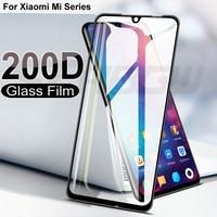 200D de vidrio templado para Xiaomi Mi jugar 9 8 SE 9T Pro CC9 CC9E Protector de pantalla de mi 8 9 10 A2 A3 Lite Poco F1 6 6X película protectora