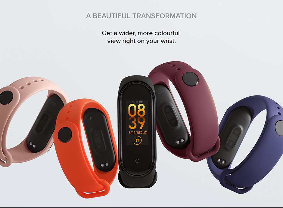 H4d6fc56dda8943d9baa98f1fbf6cf829W Xiaomi Mi Band 4 Smart Bracelet 3 Color Miband 4 Smartband AMOLED Screen Fitness Traker Bluetooth Sport Waterproof Smart Band