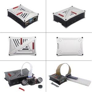 Image 5 - オリジナル英国ラズベリーパイ 4 モデルbキット 2 4 8 ギガバイトのram + absケース + デュアルファン + 電源アダプタオプション 64 32 ギガバイトsdカード & リーダー