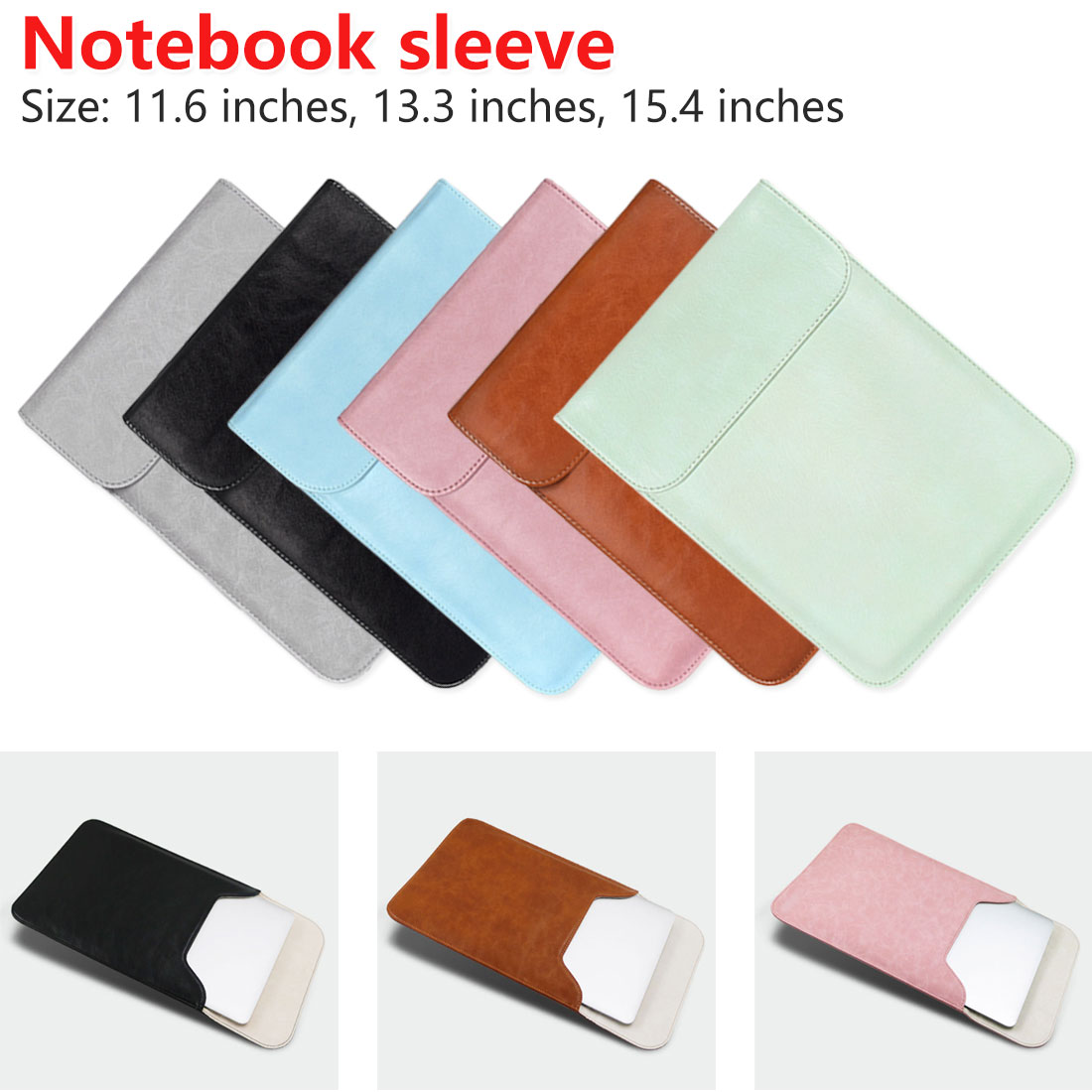 Laptop Bag Case 11 12 13 14 15.6 inch for Asus Dell Acer Hp Xiaomi Notebook Sleeve 12.5 13.3 14.1 Waterproof Matte Cover